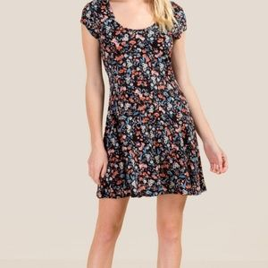 NWT Francesca's Collection Ava Floral tie dress